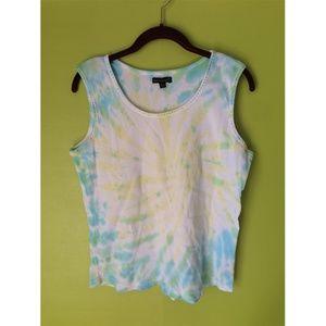 By Design Beaded Tank Cami Tie Die Pastel XL /LG